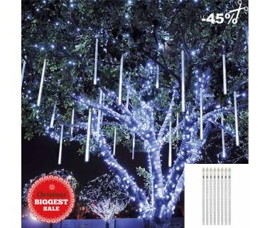 Χριστουγεννιάτικη LED βροχή μετεωριτών 8 τεμάχια