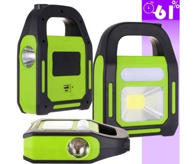 Επαναφορτιζόμενο φως εργασίας LED με τεχνολογία COB με 3 λειτουργίες φωτισμού με διάρκεια έως 8 ώρες
