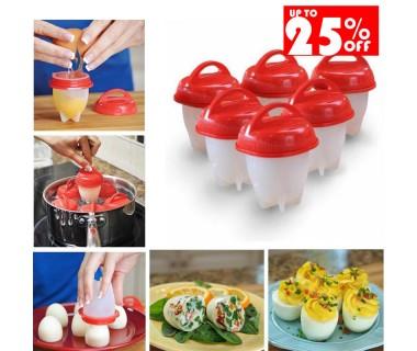 2 Σετ 6 Τεμαχίων για Βράσιμο Αυγών Silicone Egg Boil (12 Τεμάχια)
