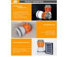 Αδιάβροχος Ηλιακός Εξολοθρευτής Κουνουπιών  Εντόμων και Φωτιστικό LED Camping Δωματίου