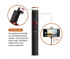 Φορητό πτυσσόμενο selfie stick-τρίποδο με λειτουργία bluetooth και αυτόνομο φωτισμό LED