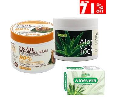 Κρέμα σαλιγκαριού Ανάπλασης Προσώπου Κρέμα ALOE VERA και Σαπούνι 100gr Aloe Vera