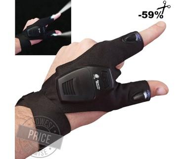 Αδιάβροχο Γάντι Δύο Δακτύλων με Φακούς LED, Ιδανικό για Μαστορέματα, Ψάρεμα & Άλλες Εργασίες
