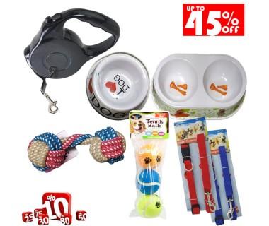 Σετ αξεσουάρ και παιχνίδια σκύλου ( 6 τεμάχια )