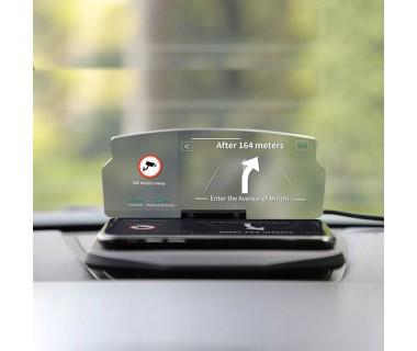 Βάση Κινητού Αυτοκινήτου με Οθόνη Αντανάκλασης