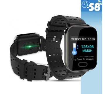 Αδιάβροχο Ρολόι Smart Watch Βιομετρικό & Αθλητικό Με Πιεσόμετρο, Οξύμετρο, Μέτρηση Βημάτων, Καρδιακών Παλμών & Ποιότητας Ύπνου
